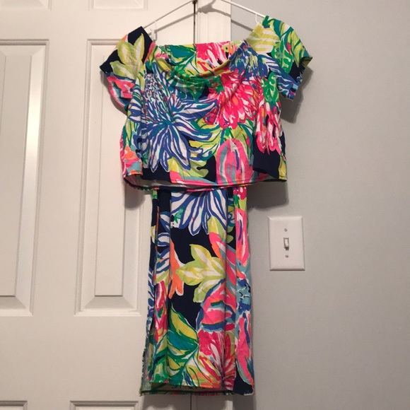 17fe13239d5d3c Lilly Pulitzer Dresses | Mansi Set Travelers Palm L | Poshmark